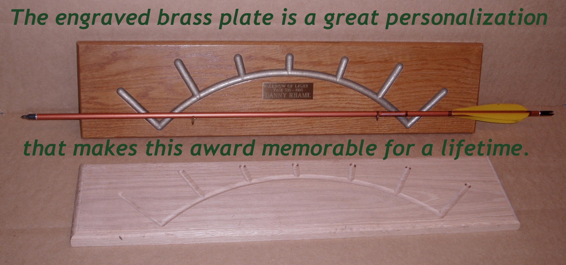 Arrow of Light Cub Scout Award Plaques by Mail